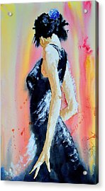 Acrylic Print featuring the painting The Dance by Steven Ponsford