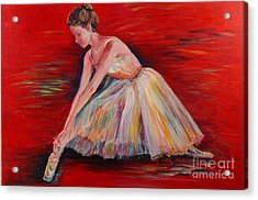 The Dancer Acrylic Print by Nadine Rippelmeyer