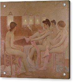 The Dancers Acrylic Print by Fernand Pelez