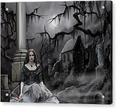Acrylic Print featuring the painting The Dark Caster Awaits by James Christopher Hill