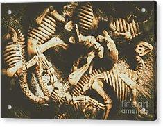 The Dark Dinosaur Abstract Acrylic Print