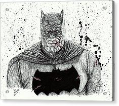 The Dark Knight Acrylic Print by Wave Art