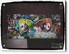 Acrylic Print featuring the photograph The Dark Side -  Graffiti by Colleen Kammerer