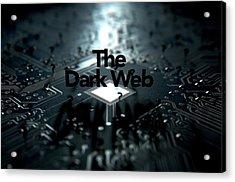 The Dark Web Concept Acrylic Print by Allan Swart