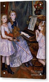 The Daughters Of Catulle Mendes At The Piano, 1888 Acrylic Print by Pierre Auguste Renoir