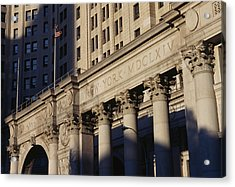 The David N Dinkins Municipal Building Acrylic Print by American School