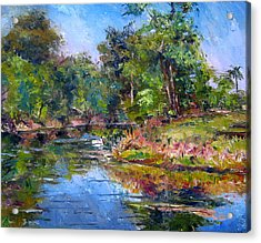 The Davie Canal Acrylic Print by Mark Hartung