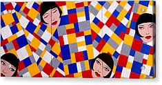 The De Stijl Dolls Acrylic Print by Tara Hutton