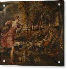 The Death Of Actaeon Acrylic Print by Titian