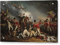 The Death Of General Mercer At The Battle Of Princeton, January 3, 1777  Acrylic Print by John Trumbull