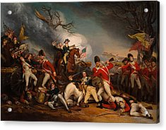 The Death Of General Mercer At The Bottle Of Princeton Acrylic Print