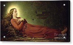 The Death Of Germaine Cousin The Virgin Of Pibrac Acrylic Print by Alexandre Grellet