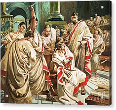 The Death Of Julius Caesar  Acrylic Print by C L Doughty