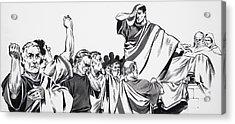 The Death Of Julius Caesar Acrylic Print by English School