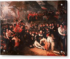 The Death Of Nelson Acrylic Print by Benjamin West
