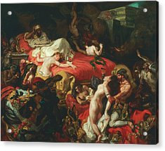 The Death Of Sardanapalus Acrylic Print by Eugene Delacroix