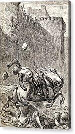 The Death Of Simon De Montfort After Acrylic Print