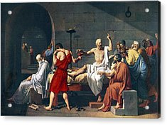 The Death Of Socrates, 1787 Artwork Acrylic Print by Sheila Terry