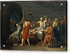 The Death Of Socrates Acrylic Print