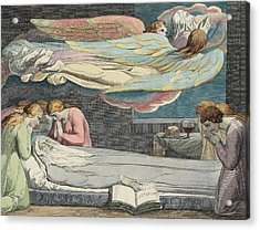 The Death Of The Good Old Man Acrylic Print by Sir William Blake