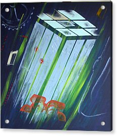 The Death Song Of The Elevator Acrylic Print by Poul Costinsky