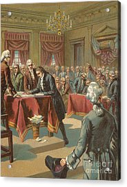 The Declaration Of Independence Acrylic Print