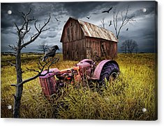 Acrylic Print featuring the photograph The Decline And Death Of The Small Farm by Randall Nyhof