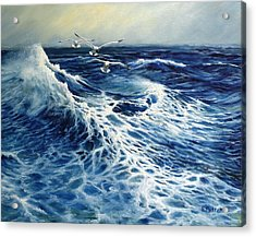 The Deep Blue Sea Acrylic Print by Eileen Patten Oliver