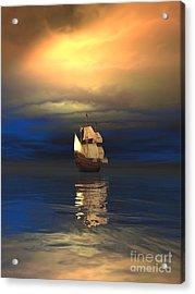 The Deep Blue Sea Acrylic Print by Sandra Bauser Digital Art