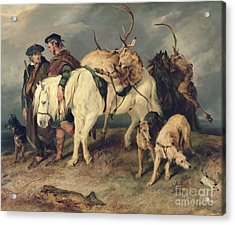 The Deerstalkers Return Acrylic Print by Sir Edwin Landseer