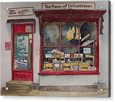 The Deli Tea Room Acrylic Print by Victoria Heryet