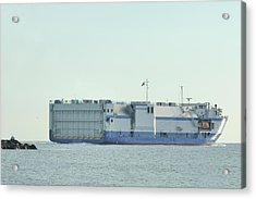 Acrylic Print featuring the photograph The Delta Mariner Heads To Sea by Bradford Martin