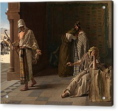 The Departure Of The Prodigal Son Acrylic Print by Edouard de Jans