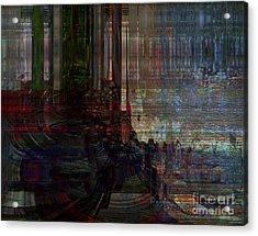 The Depth Of Challenge Acrylic Print by Fania Simon