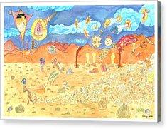 The Desert Acrylic Print by NeuronDiva Studios