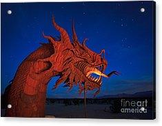 The Desert Serpent Under A Starry Night Acrylic Print