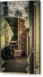 The Desk Acrylic Print by Phillip Burrow