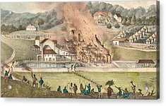 The Destruction Of The Roehampton Estate Acrylic Print by Adolphe Duperly