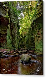The Devil Pulpit At Finnich Glen Acrylic Print by Jeremy Lavender Photography
