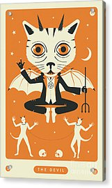 The Devil Tarot Card Cat Acrylic Print