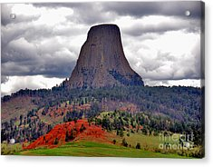 The Devils Tower Wy Acrylic Print