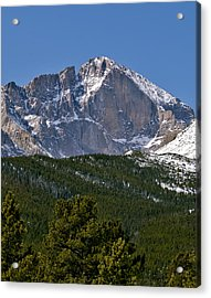 The Diamond On Longs Peak In Rocky Mountain National Park Colorado Acrylic Print