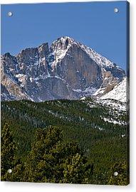 The Diamond On Longs Peak In Rocky Mountain National Park Colorado Acrylic Print by Brendan Reals