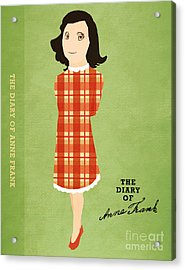 The Diary Of Anne Frank Book Cover Movie Poster Art 4 Acrylic Print