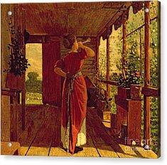 The Dinner Horn Acrylic Print by Winslow Homer