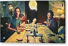 The Dinner Scene - Texas Chainsaw Acrylic Print by Taylan Apukovska