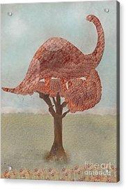 Acrylic Print featuring the painting The Dinosaur Tree by Bri B