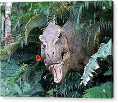 The Dinosaurs Lunch Acrylic Print by Rana Adamchick
