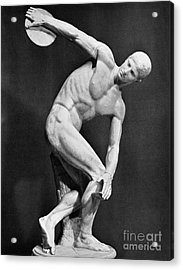 The Discobolus, 450.b.c Acrylic Print by Granger