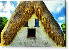 The Disheveled House - Da Acrylic Print by Leonardo Digenio